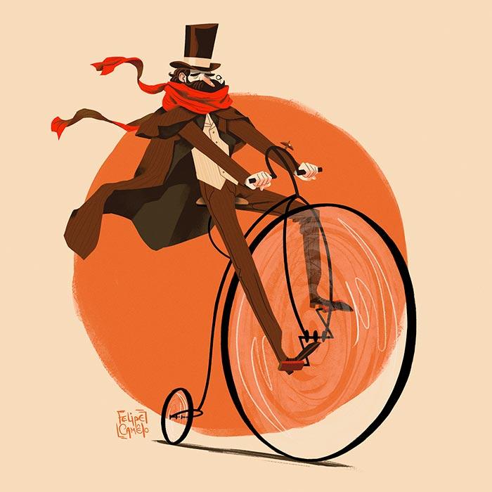 EnBiciArte. Victorian Cyclist de Felipe Camêlo