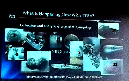 UFO Fragments Via Slide at CUN During TTSA Slide Presentation