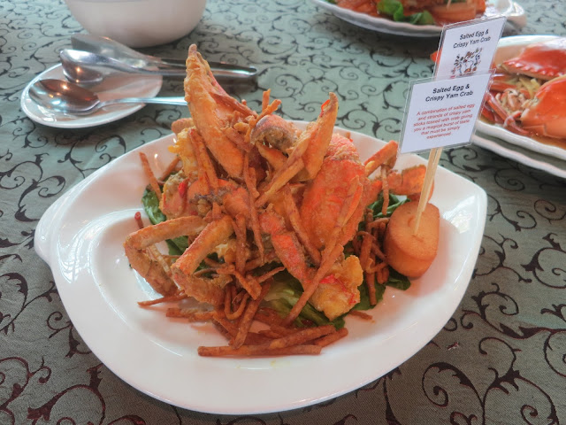 Salted Egg and Crispy Yam Crab