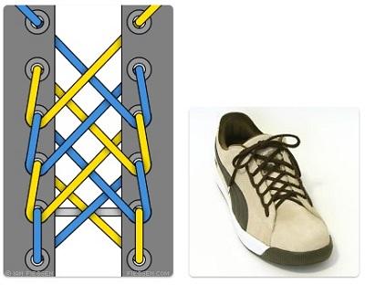 cara mengikat tali sepatu 5 lubang