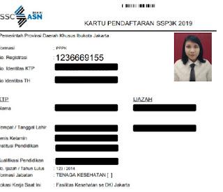KARTU PENDAFTARAN PPPK/P3K 2019