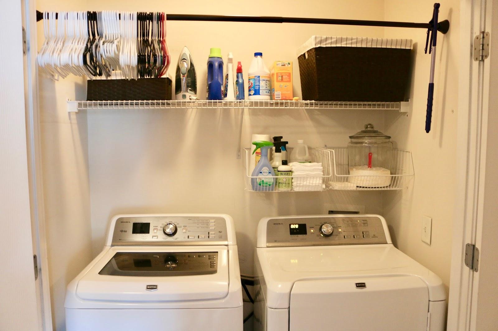 How I Organize My Laundry Room My Glittery Heart