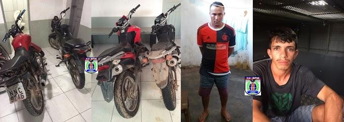 Dupla é presa após roubo de motos em Santa Quitéria