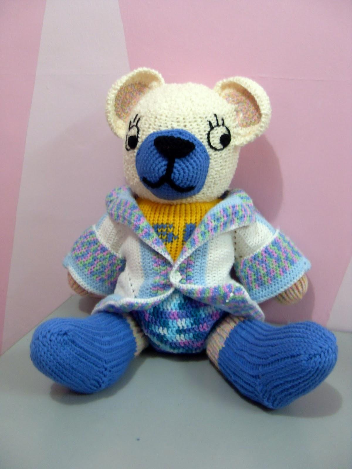 Crochet Is Fun Tutorial Loom Knit Teddy Bear English