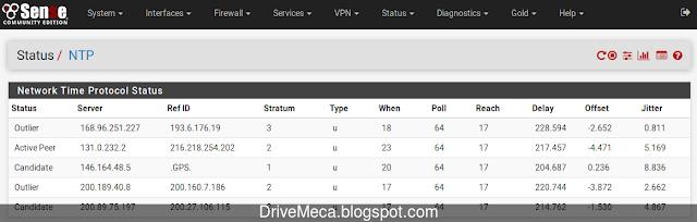 Verificando status de NTP Server
