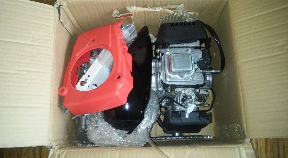 Building my motorized bicycle: I bought my 49cc 4-stroke