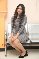 Actress Chandini Chowdary Pos in Short Dress at Howrah Bridge Movie Press Meet  0125.JPG