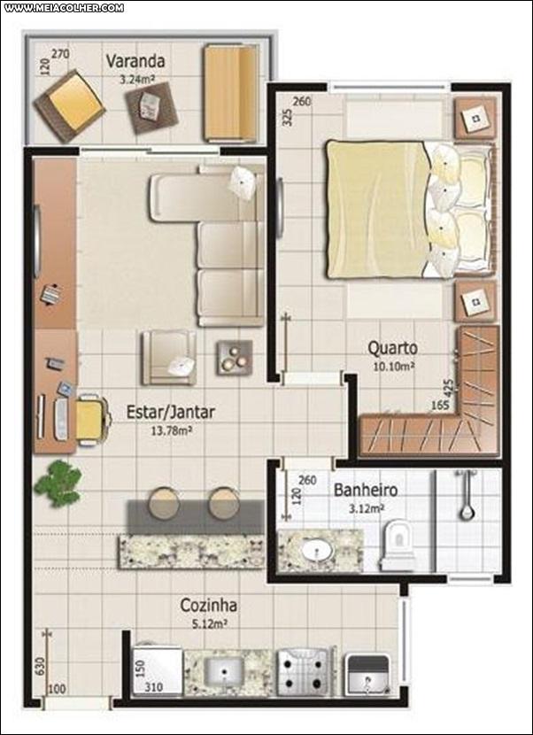 Casa de 1 quarto e 1 banheiro 1