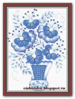 Riolis 1366 «Голубой букет»