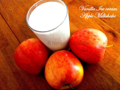 vanilla apple milkshake