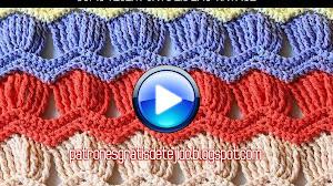 Cómo tejer punto zig zag vintage en video