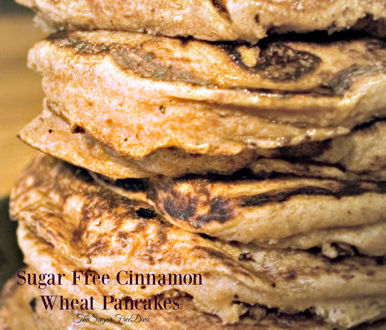Sugar Free Cinnamon Wheat Pancakes