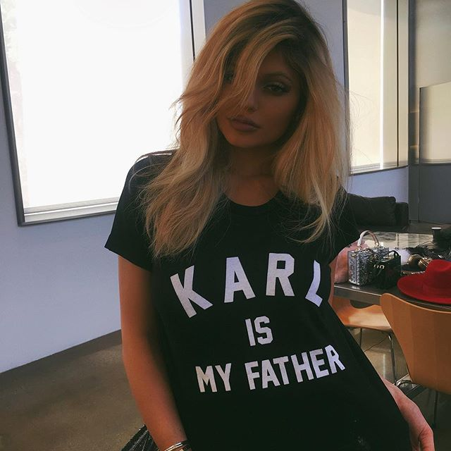 Kylie Jenner Wearing one of my favorite brands in-between shots.