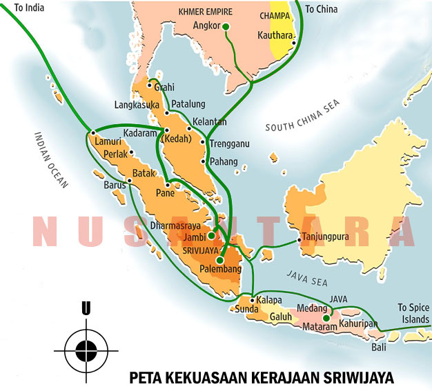 Royal power map Sriwijaya Kingdom