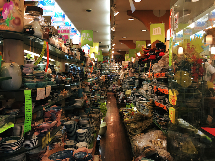 A specialty ceramics shop in Dotonbori Osaka Japan