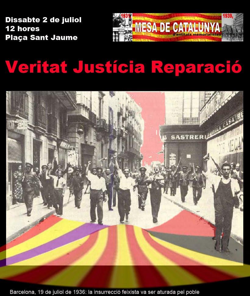Cartell 21a concentració per la Veritat, la Justícia i la Reparació