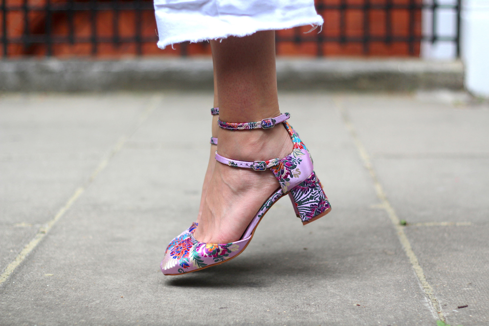 l'intervalle floral pink shoes peexo fashion blogger