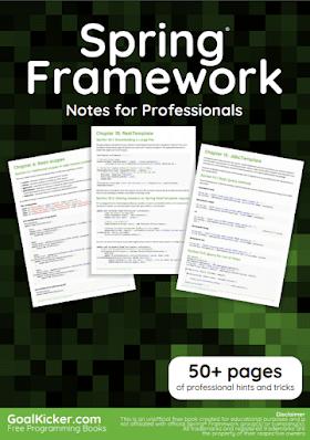 Spring Framework PDF Book Notes | Free Download