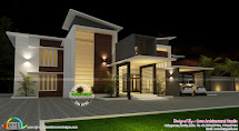 Villa Plan In Contemporary Style - Kerala Home Design And