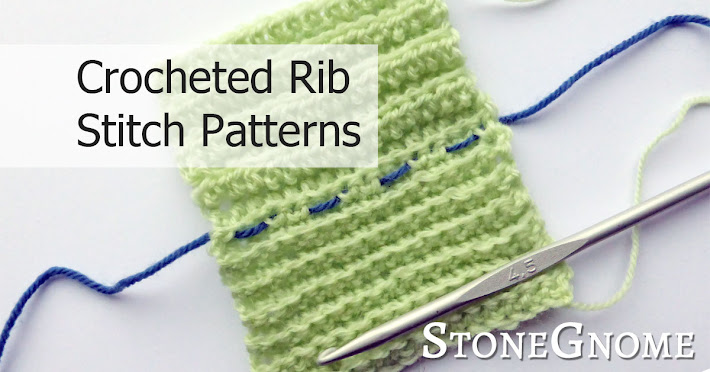 Crocheted Rib Stitch Patterns