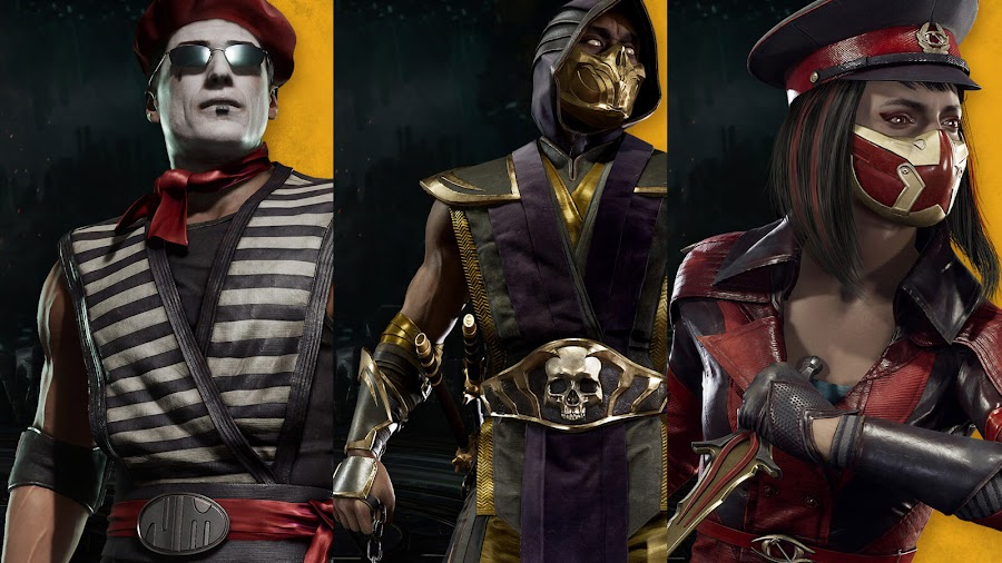 mortal kombat 11 exclusive playable skin gold demon scorpion kold war skarlet ninja mime johnny cage