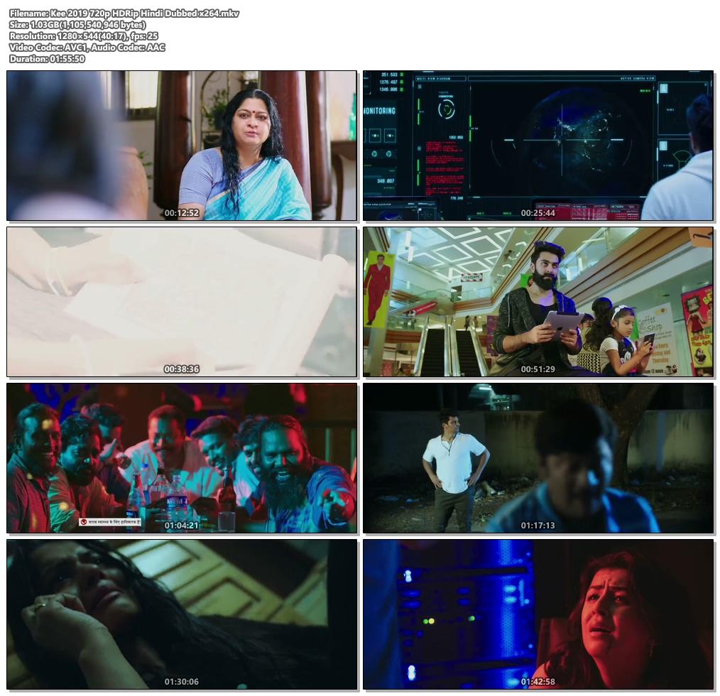 Kee 2019 720p HDRip Hindi Dubbed x264   480p 300MB   100MB HEVC Screenshot