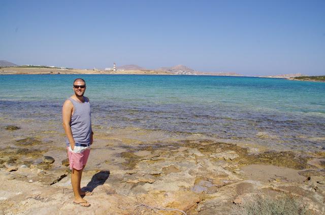 Male exploring Paros Island
