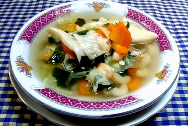 resep sup jamur tiram