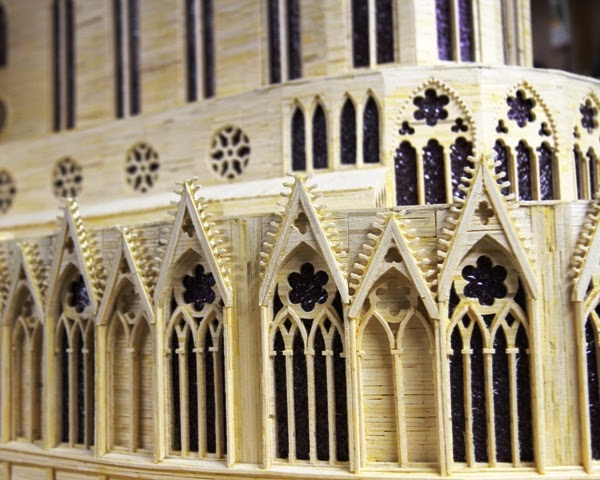 14-Notre-Dame-Cathedral-Patrick-Acton-The-Matchmaker-Matchsticks Sculptures-www-designstack-co
