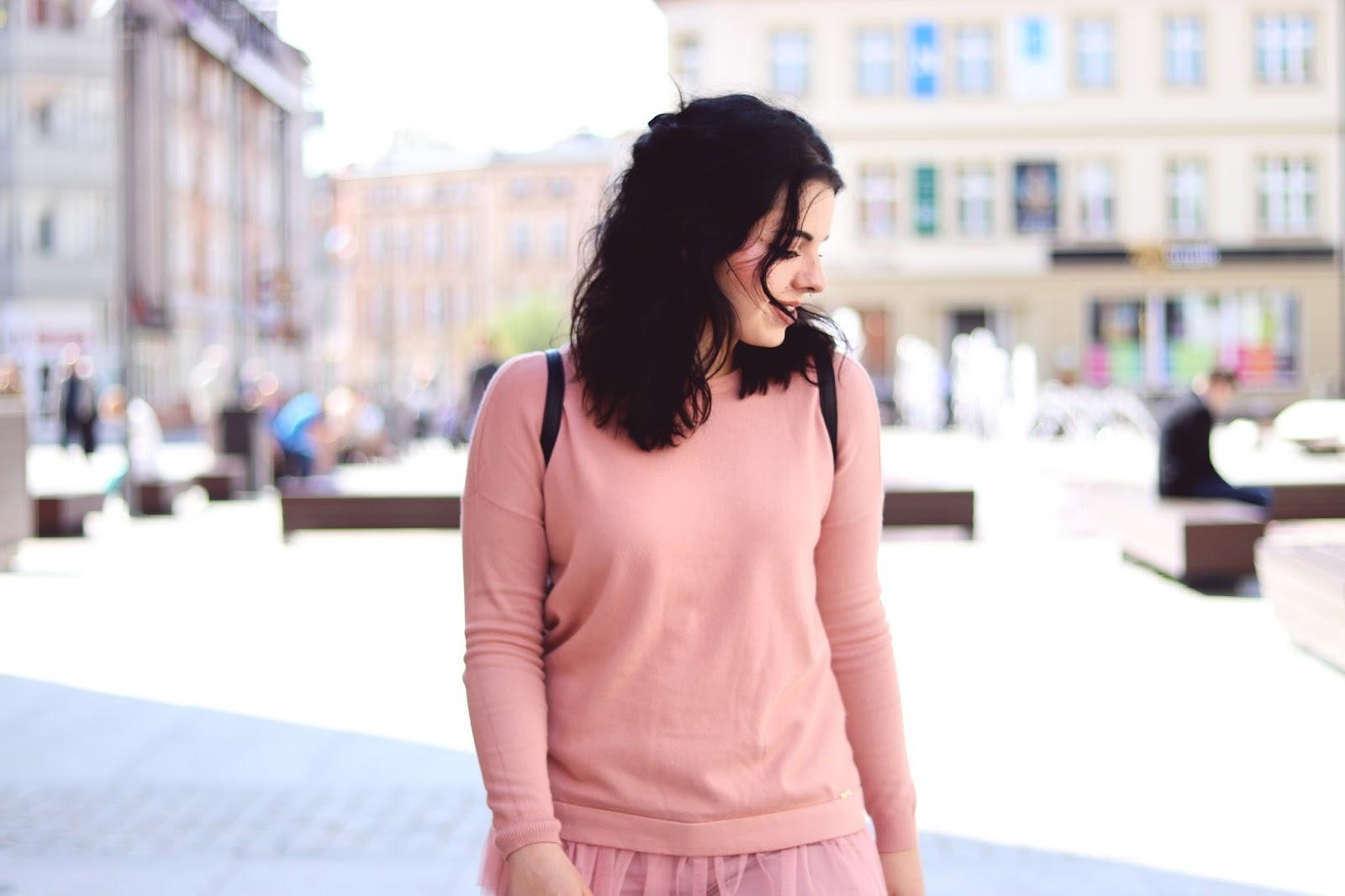Mohito Pink Pastel Tulle Sweatshirt