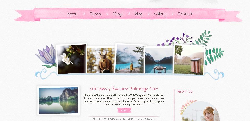 Favoritos Templates responsivos feminino para blogger grátis - Blog Cantinho  QW74