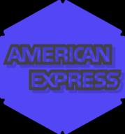 american express hexagon icon