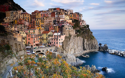 manarola italy widescreen resolution hd wallpaper