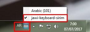 Cara Setting Arab Jawi di Komputer