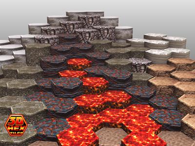 3d Hex Tiles
