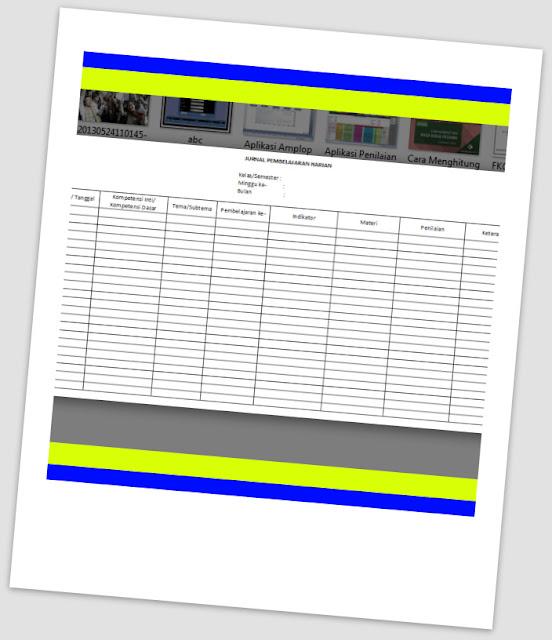 Download Aplikasi Jurnal Harian Kurikulum 2013 Terbaru