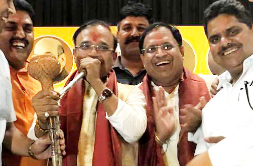 MP Dr Anil Jain went to Faridabad to elect a hukkah gaggood, someone's ticket was confirmed