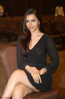 Kyra Dutta in black At Rogue Movie Audio Launch ~  040.JPG