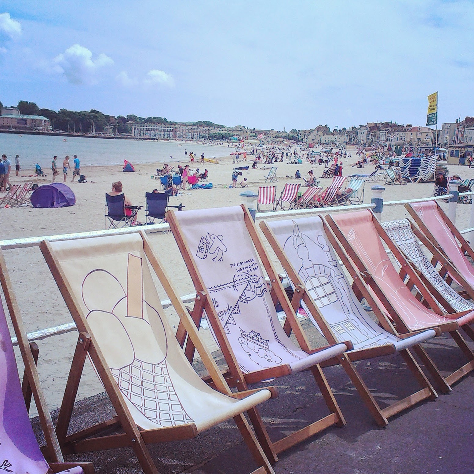 Weymouth seafront deckchairs