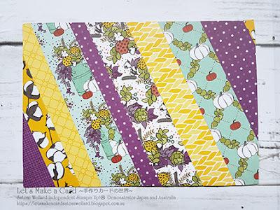 Paper Quilt Pocket card  Satomi Wellard-Independent Stampin'Up! Demonstrator in Japan and Australia, #su, #stampinup, #cardmaking, #papercrafting, #pocketfulofsunshine #スタンピン #スタンピンアップ #スタンピンアップ公認デモンストレーター #ウェラード里美 #手作りカード #スタンプ #カードメーキング #ペーパークラフト #スクラップブッキング #ハンドメイド #オンラインクラス #スタンピンアップオンラインオーダー #スタンピンアップオンラインショップ #フェイスブックライブワークショップ  #ポケットカード #キルト