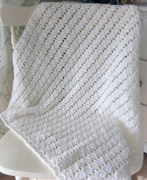 Lacy Braids Baby Blanket - Free Pattern