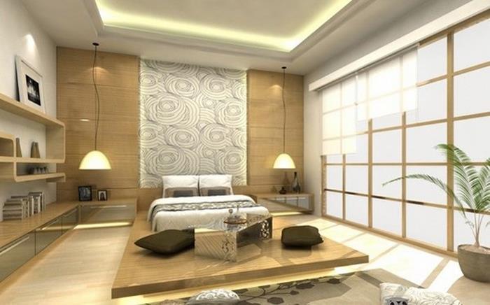 uzakdoğu tarzı yatak odası dekorasyonu