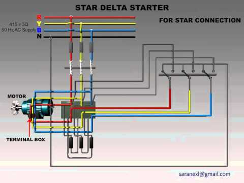 1 Phase Motor Starter Wiring Diagram Level Example Star Delta For Connection | Elec Eng World