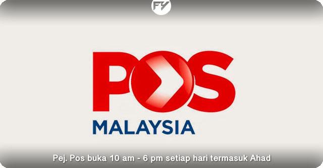 Perubahan Senarai Pejabat Pos Buka Jam 10 Pagi - 6 Petang Termasuk Ahad
