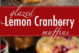 Glazed Lemon Cranberry Muffins