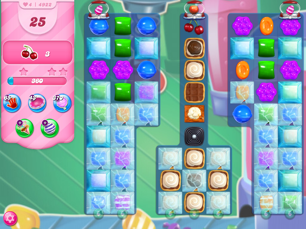 Candy Crush Saga level 4922