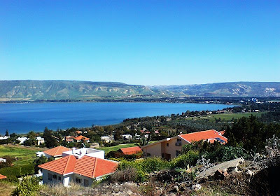 Sea of Galilee as seen from the Moshava Kinneret