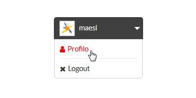 demo menu utente area riservata