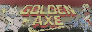 Luminoso superior de la recreativa de SEGA, Golden Axe de 1989