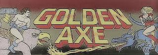 Luminoso superior de la recreativa de SEGA, Golden Axe de 1989